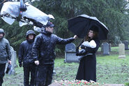Once Upon a Time - 5x21 - Last Rites - Production Image - Zelena and Baby Robin