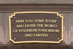 Disneyland plaque