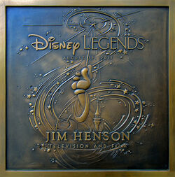 Disney legends jim henson plaque