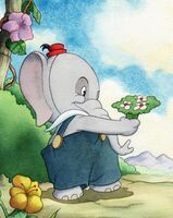 Elmer Elephant With flowers