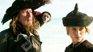 Jack, Barbossa and Elizabeth