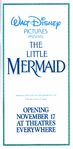 The Little Mermaid - 1989 Pictureless Print Ad from Disneyland Guide