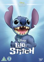 Lilo & Stitch UK DVD 2014 Limited Edition slip cover
