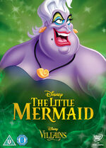 The Little Mermaid Disney Villains 2014 UK DVD
