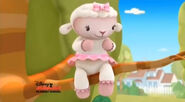 Lambie stuck up in a tree2