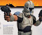 Captain Rex with helmet on