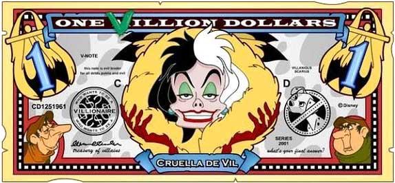 File:Cruella's One Villain dollar bill.jpg