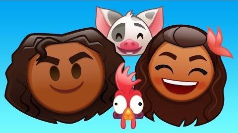 Moana As Told By Emoji Disney