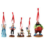 Pinocchio character ornament set