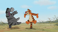 Eeyore is going to bounce like and with Tigger