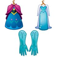 EmojiBlitz-dress Anna and Elsa