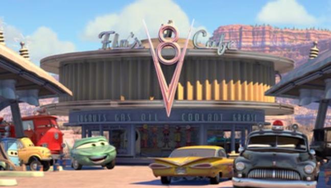 Flo's V8 Cafe | Disney Wiki | Fandom powered by Wikia