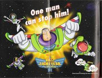 Buzz Lightyear advertisement folded out