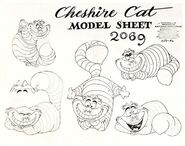 Model sheet - cheshire cat