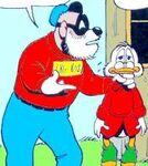 Grandpa Beagle holding Scrooge
