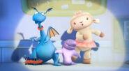 Stuffy, lambie and mr chomps