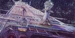 U S S Cygnus Concept Art by Peter Ellenshaw 03