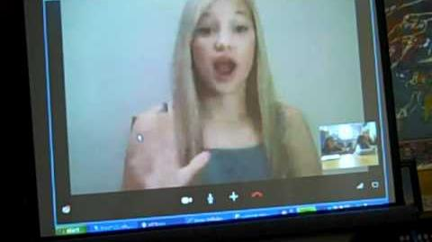 Olivia Holt from Disney's Kickin' It Skypes in with Elvira Deyamport, Ed.S.'s Gifted class.