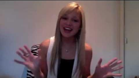Olivia Holt facebook video november 2011