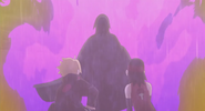 Sasuke protects Boruto and Sarada