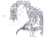 Skullasaurus by Akuru Kougasaki
