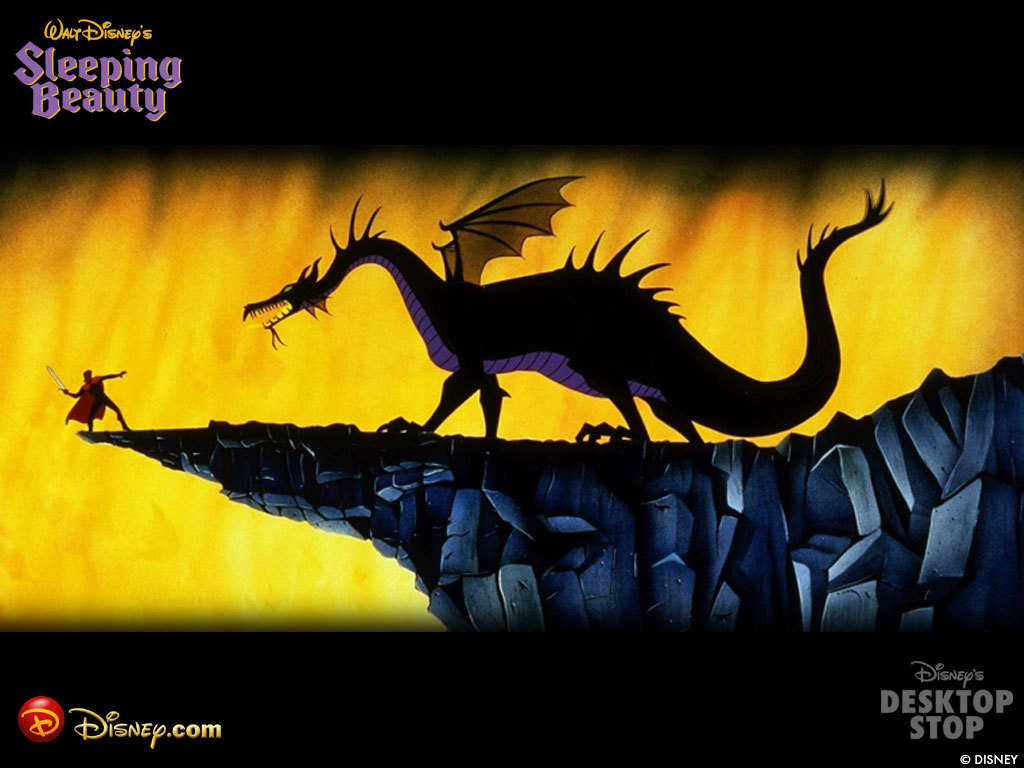 Maleficent Dragon Wallpaper fighting a dragon during a