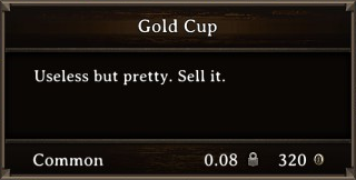DOS Items Precious Gold Cup Stats
