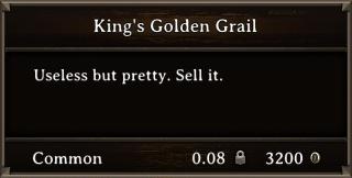 DOS Items Precious King's Golden Grail Stats