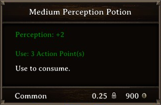 DOS Items Pots Medium Perception Potion Stats