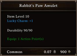 DOS Items CFTX 10.5 Rabbit's Paw Amulet