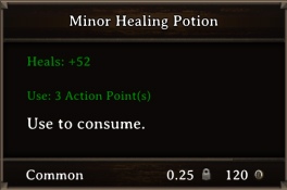 DOS Items Pots Minor Healing Potion