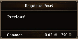 DOS Items Precious Exquisite Pearl