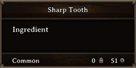 DOS Items CFT Sharp Tooth
