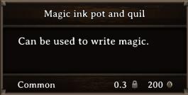 DOS Items Tools Magic ink pot and quill