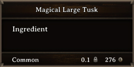 DOS Items CFT Magical Large Tusk