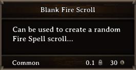 DOS Items Scrolls Blank Fire Scroll