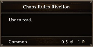 DOS Items Books Chaos Rules Rivellon Stats