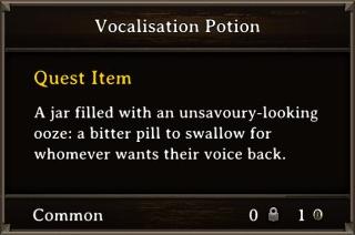 DOS Items Quest Vocalisation Potion Stats