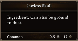 DOS Items CFT Jawless Skull
