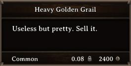 DOS Items Precious Heavy Golden Grail