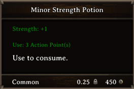 DOS Items Pots Minor Strength Potion