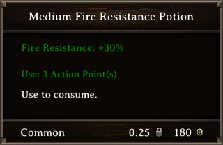 DOS Items Pots Fire Resistance Potion 1 Stats