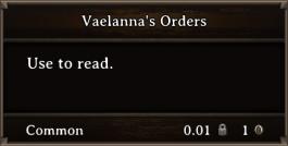 DOS Items Quest Vaelanna's Orders