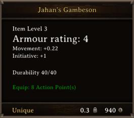 DOS Items Unique Jahan's Gambeson