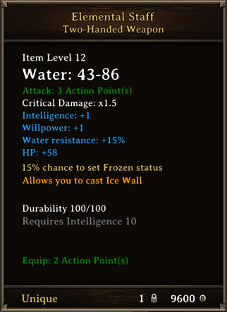 DOS Items Unique Elemental Staff
