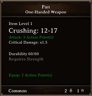 DOS Items Misc Pan Stats