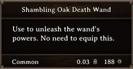 DOS Items Quest Shambling Oak Death Wand