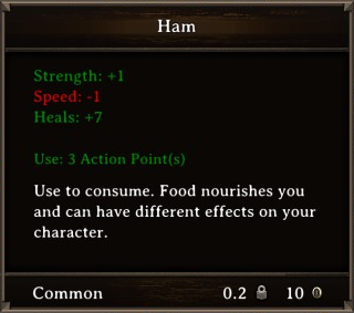 DOS Items Food Ham Stats