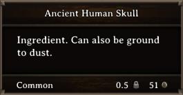 DOS Items CFT Ancient Human Skull