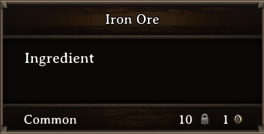 DOS Items CFT Iron Ore